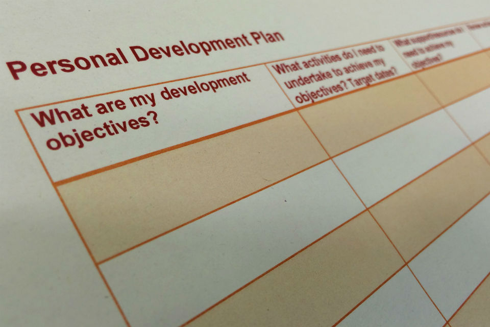 Personal Development Plan grid