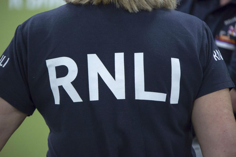 RNLI volunteer in a RNLI t-shirt at Civil Service Live London 2015