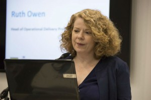 Ruth Owen presenting at Civil Service Live 2015