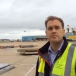 Will Surman, APHA, working at Heathrow Airport
