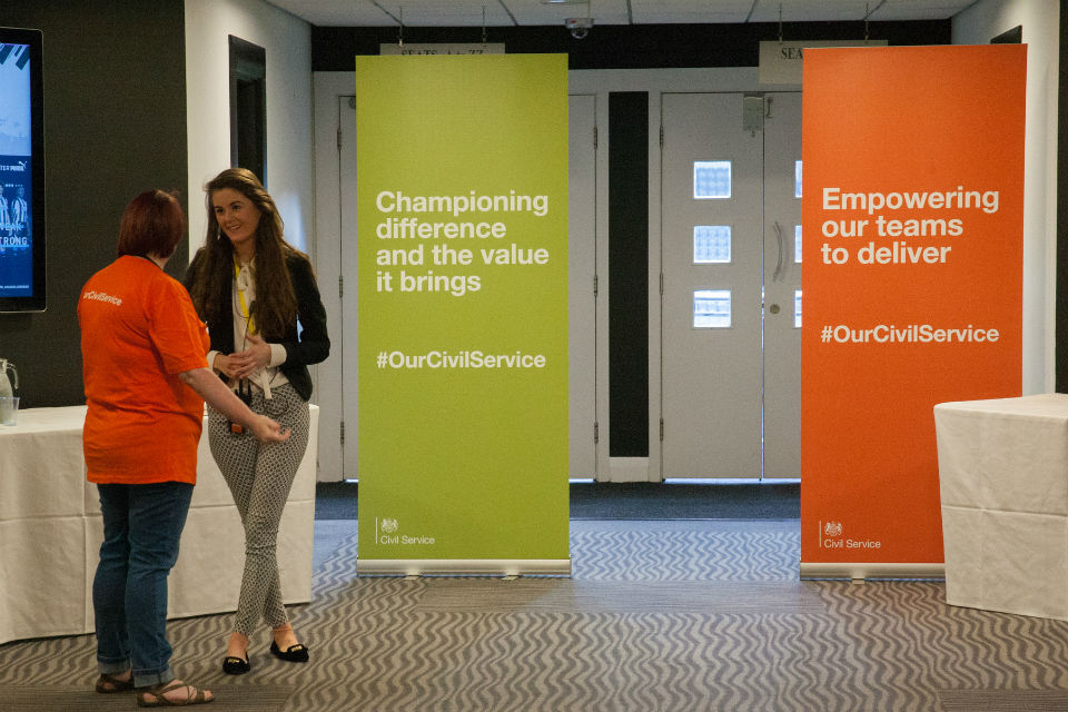 Championing difference and Empowering our staff banners at CSLive Newcastle
