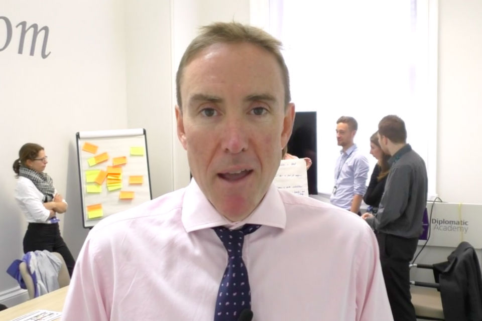 Jon Davies, Director of the Diplomatic Academy