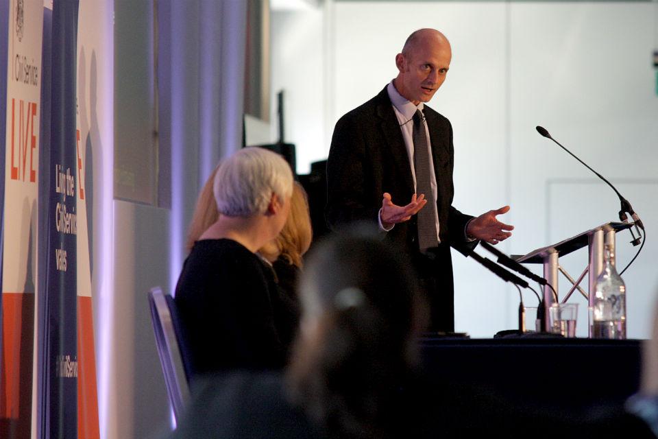 Philip Rycroft launching the One Civil Service interchange scheme at Civil Service Live 2015 Edinburgh