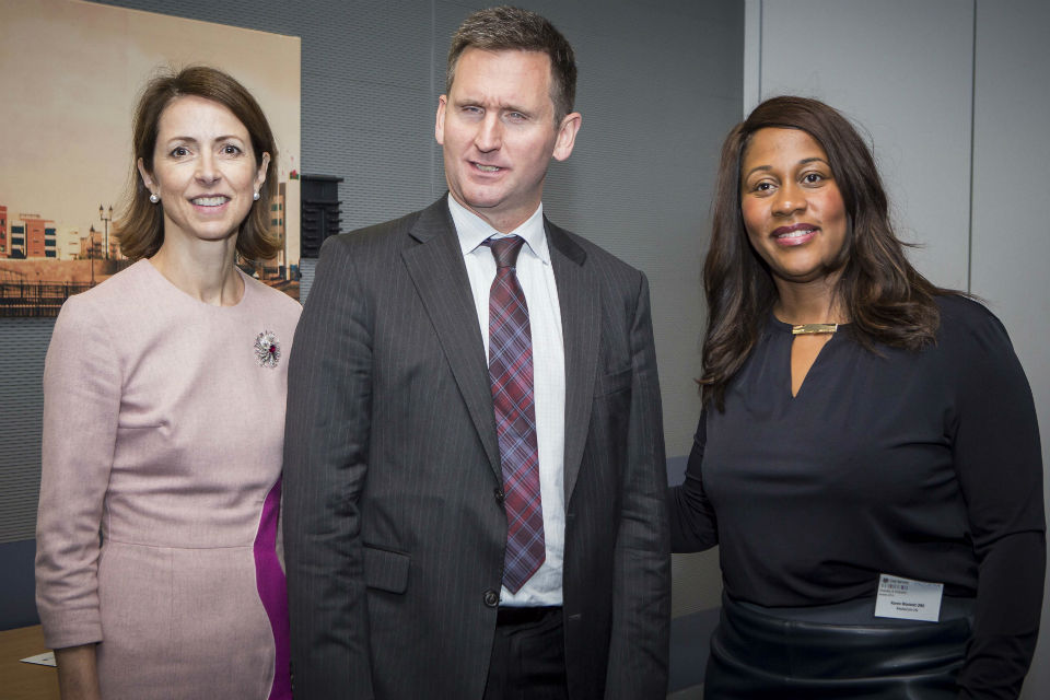 Our special advisors (left to right) Helena Morrissey, Lord Chris Holmes and Karen Blackett.