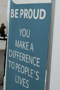 Be Proud - You make a difference to people's lives (banner)