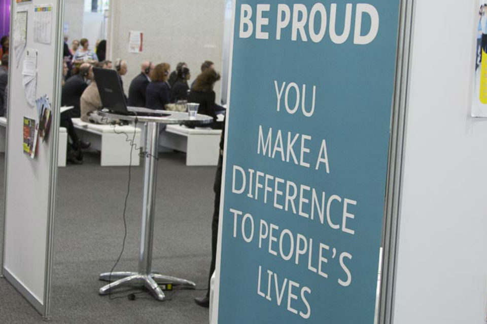 Operational Delivery Profession banner at CS Live 2015 London