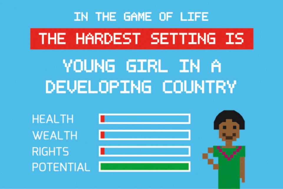 Graphic showing the problems girls have in developing countries