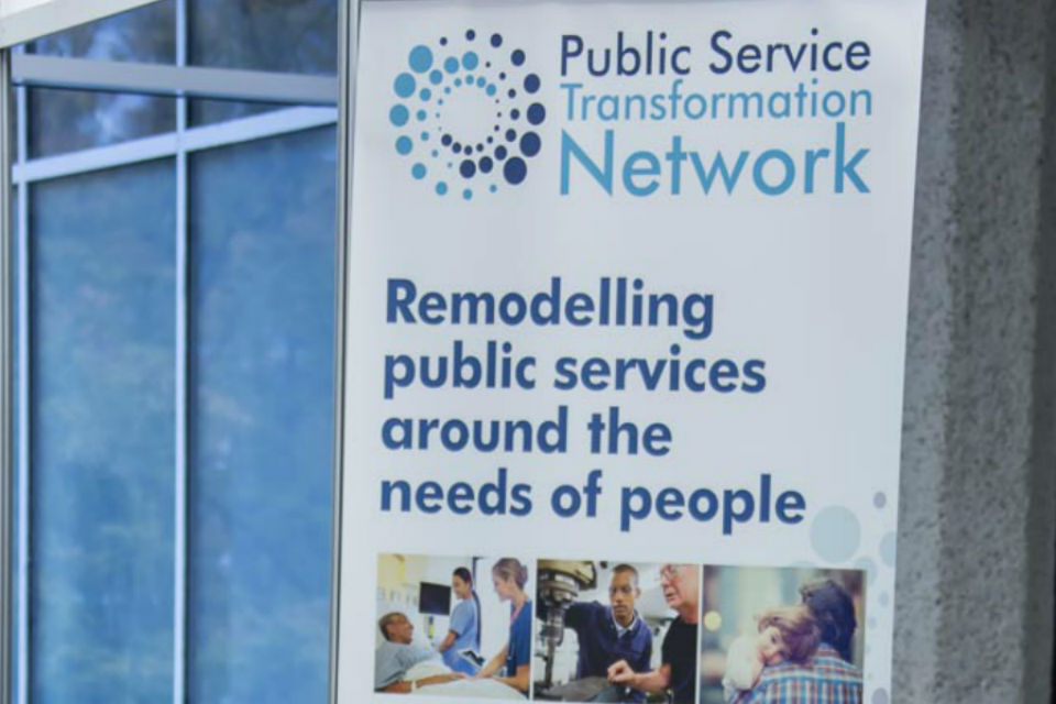 Detail from a Public Service Transformation Network banner