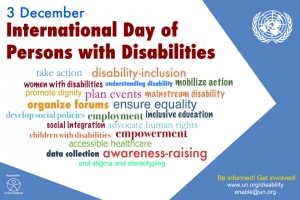 Poster for International Day of Persons with Disabilities 2015