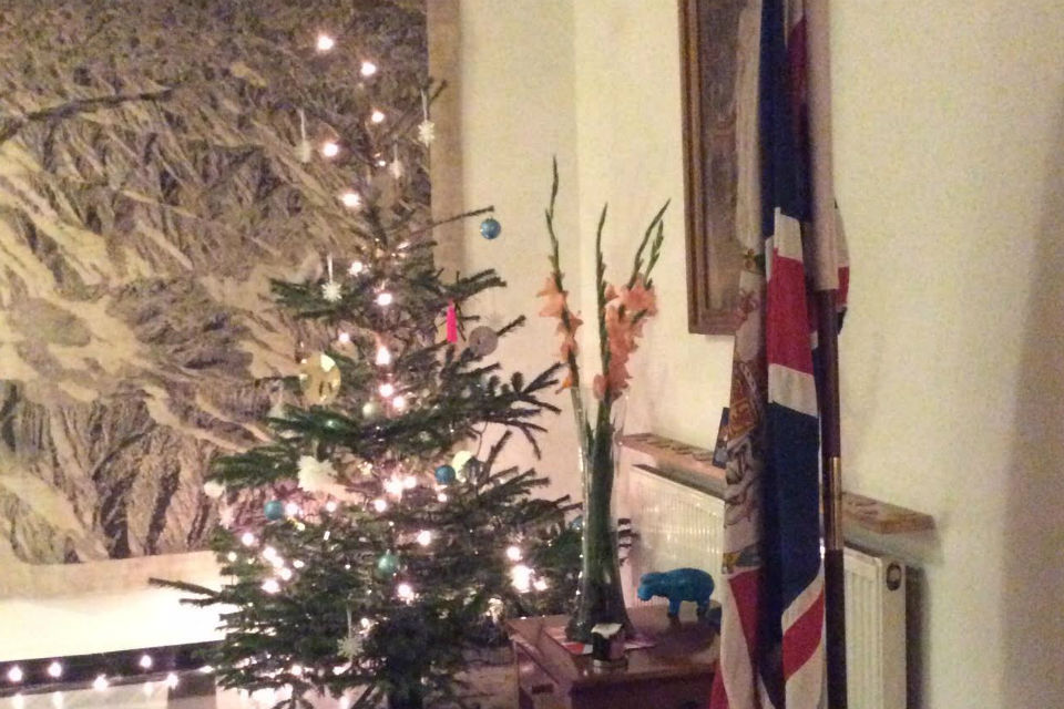 The Christmas Tree in the Kabul Embassy