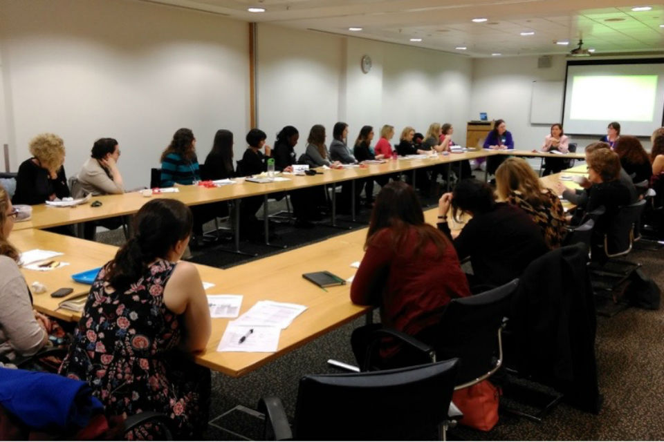 Delegates at the quarterly meeting of the Cross-Government Women's Networks