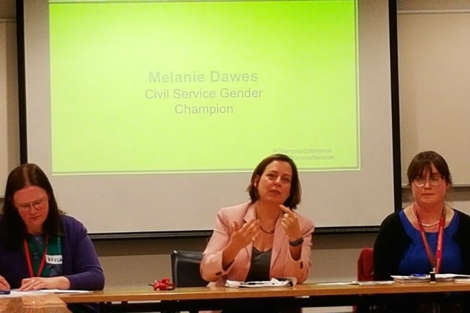 Melanie Dawes (centre) at the CGWN quarterly meeting