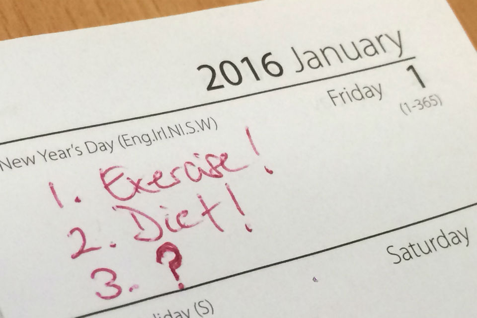 Picture of diary page, 1 January 2016