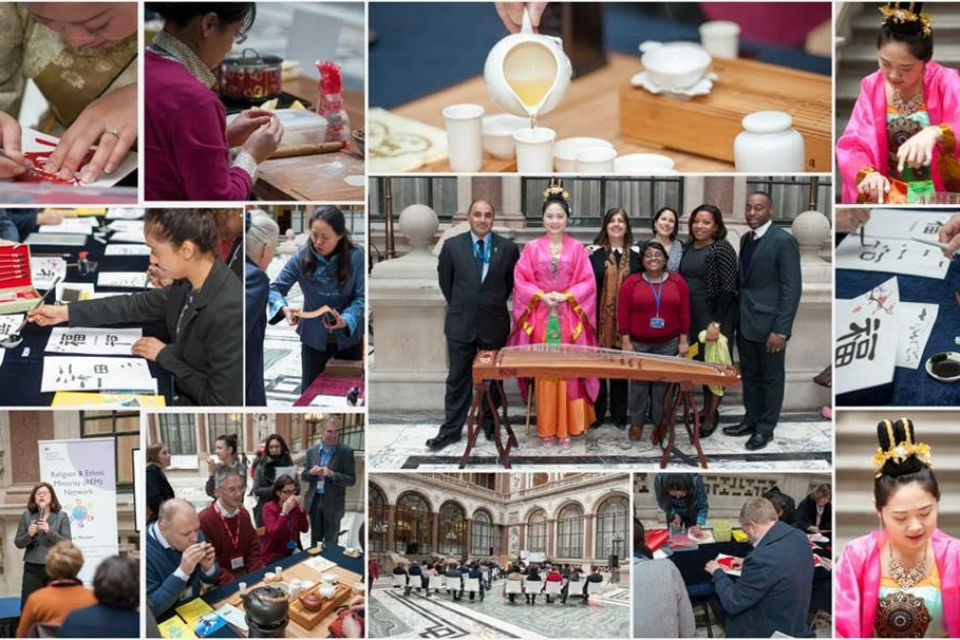 Composite of photos from DECC REM Network and Civil Service Race Forum Chinese New Year celebrations