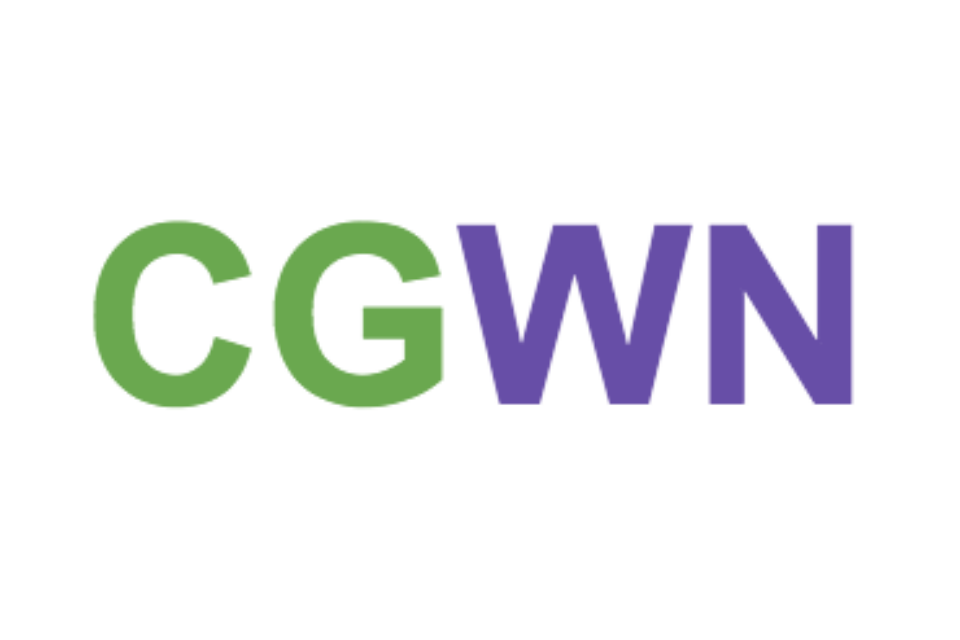 Cross-Government Women's Network initials in Int. Women's Day colours