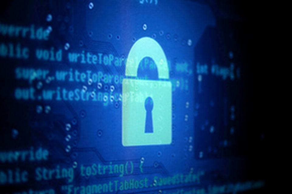 Image of a padlock on computer screen