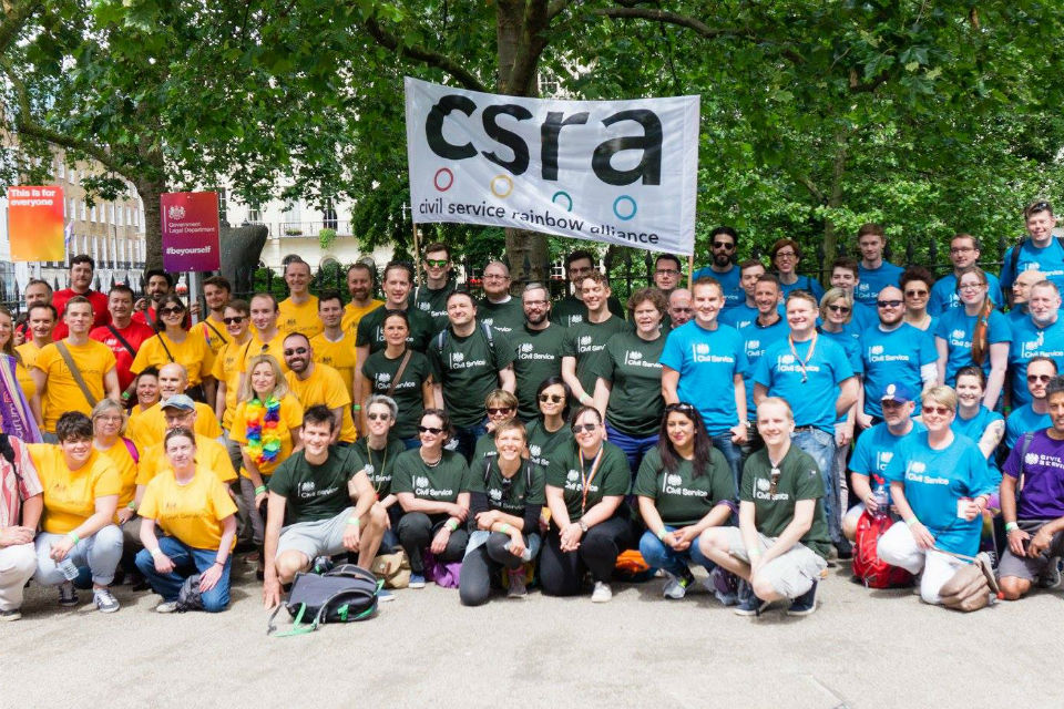 Just some of the record Civil Service participation in the London Pride march, June 2016