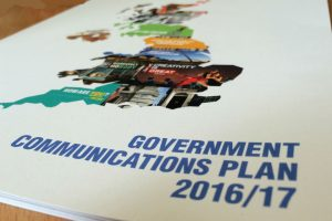Front cover of Government Comms Plan 2016/17