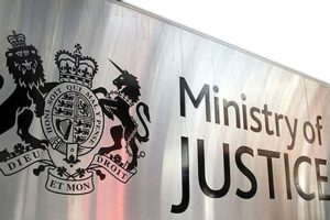 Ministry of Justice name plate