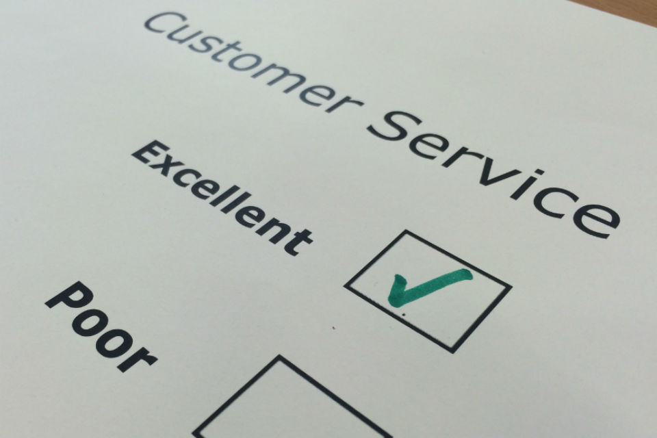 Customer service tick boxes image