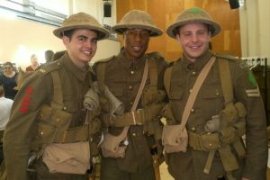 Three men in WW1 uniforms