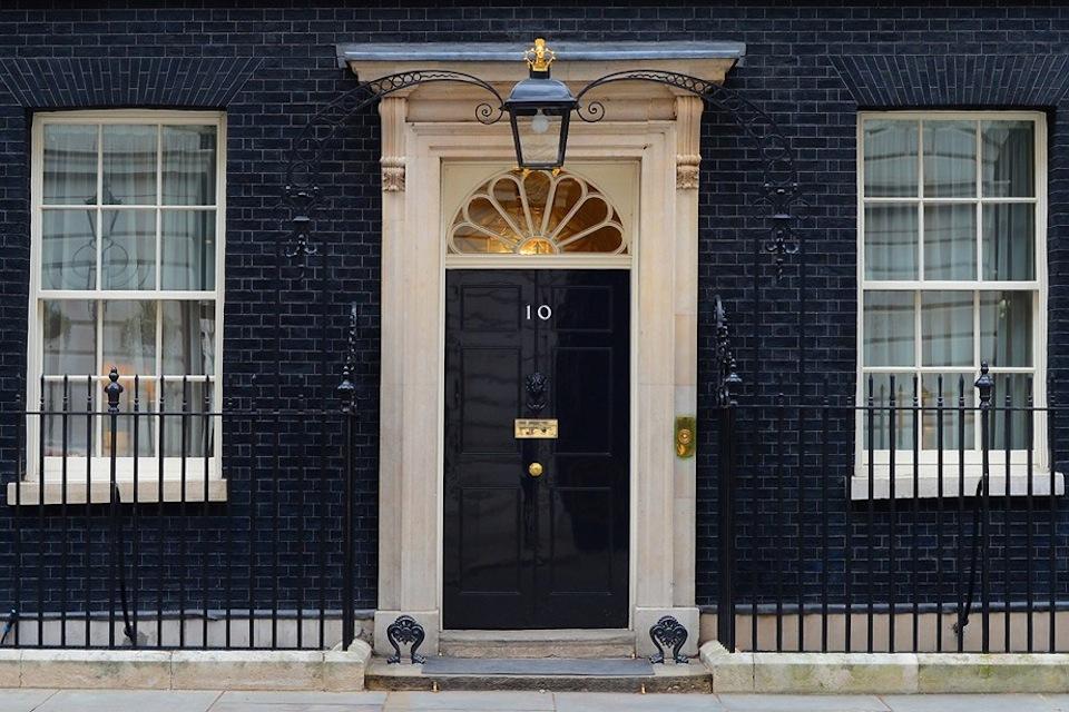 Front door of No. 10 Downing Street