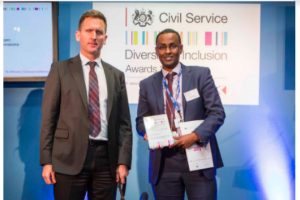 Mustafa Yusuf (right) pictured here with diversity expert advisor Lord Chris Holmes at the Diversity and Inclusion Awards 2015