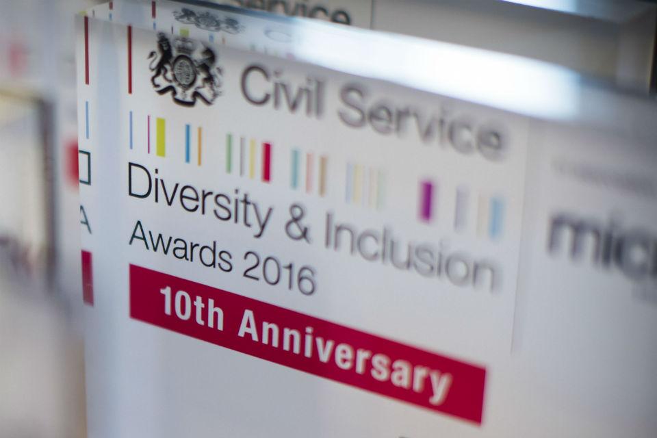 Civil Service D&I Awards 2016 winner's plaque