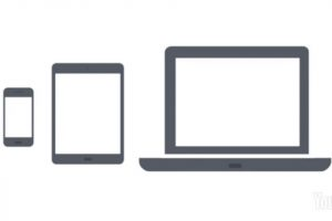 Images of computers and mobile devices