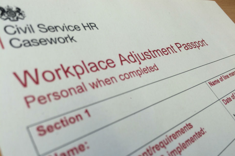 Workplace Adjustment Passport front page