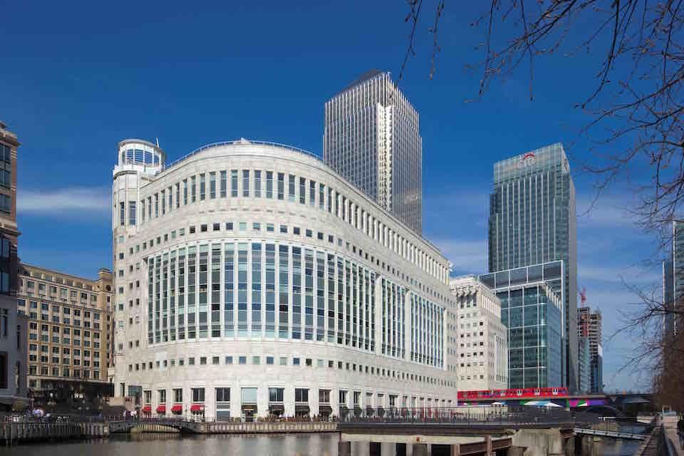 Buildings at Canary Wharf, London