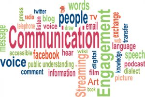 Comms campaign word cloud