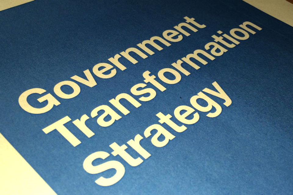 Front page of the Government Transformation Strategy