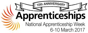 10th anniversary National Apprenticeships Week logo