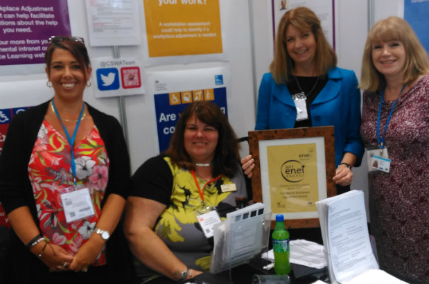 Civil Service Workplace Adjustment Team ENEI Disability Confident Award Winners