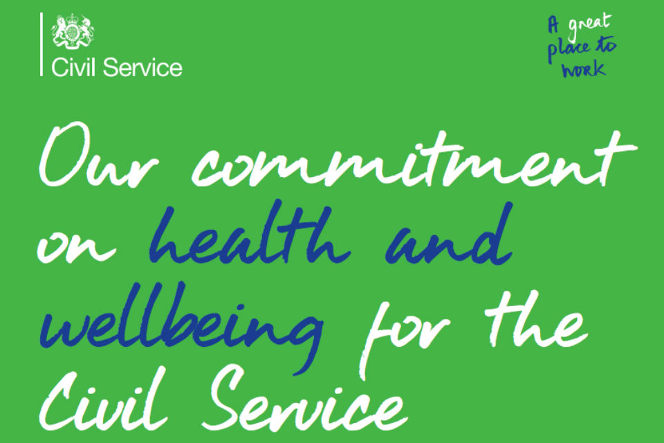 Commitment to Civil Service health and wellbeing graphic