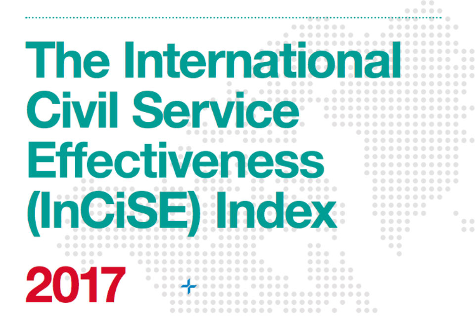 Cover of International Civil Service Effectiveness Index 2017 - detail