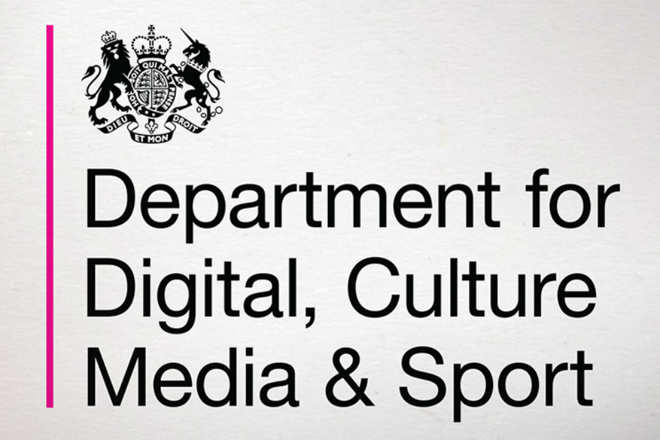 Logo of the Department for Digital, Culture, Media & Sport