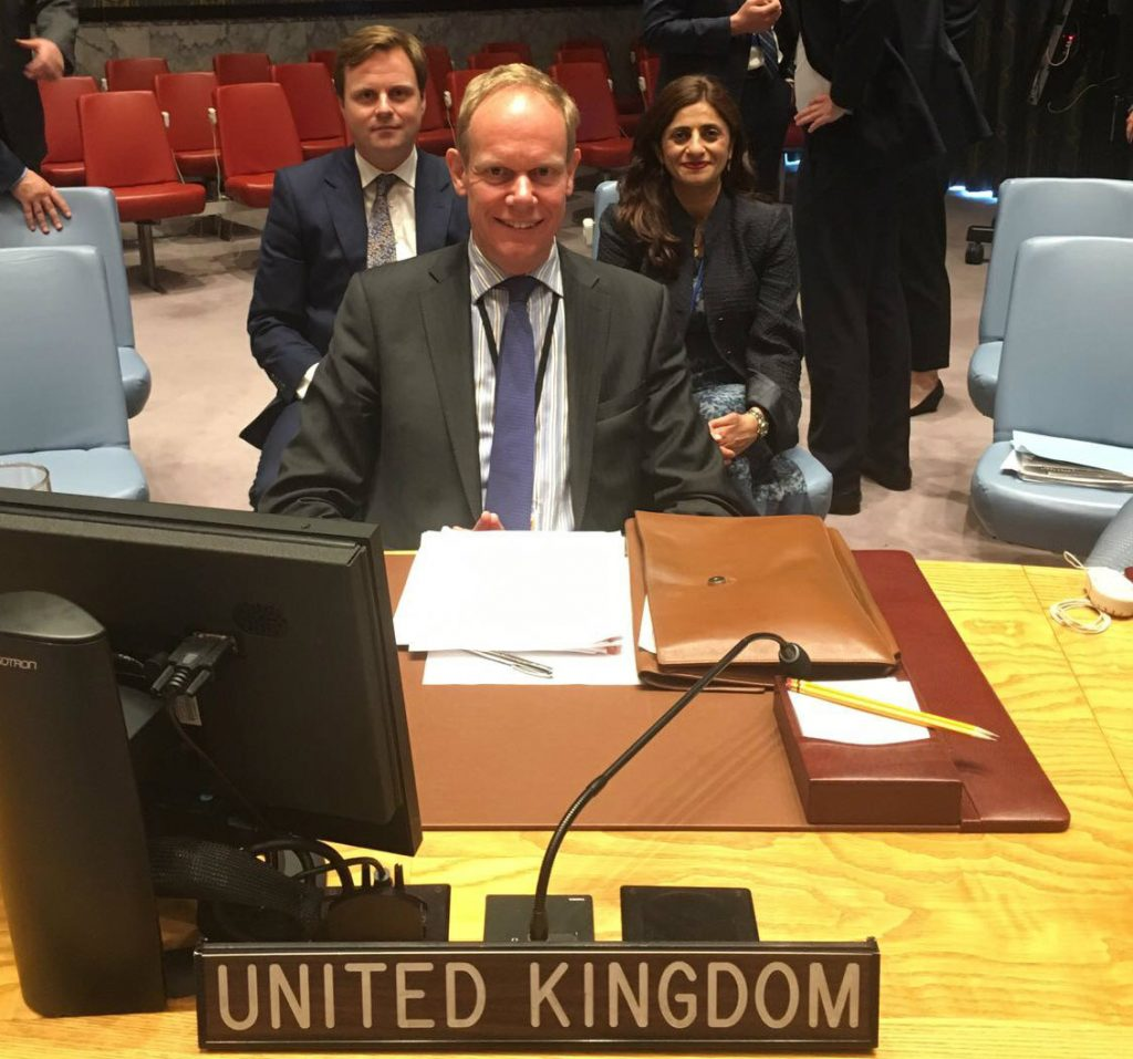 Zamila Bunglawala, Cabinet Office, work shadowing Matthew Rycroft, British Ambassador to the UN, at the UN Security Council (UNSC)
