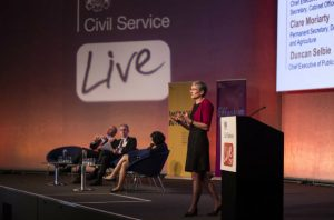 Clare Moriarty presents on effective leadership at Civil Service Live