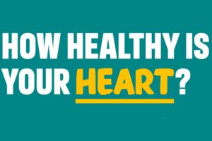 Promotional graphic for the heart health online tool