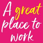 Graphic with legend 'A great place to work'