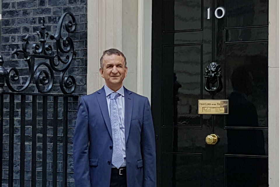 Civil servant outside No. 10 Downing Street