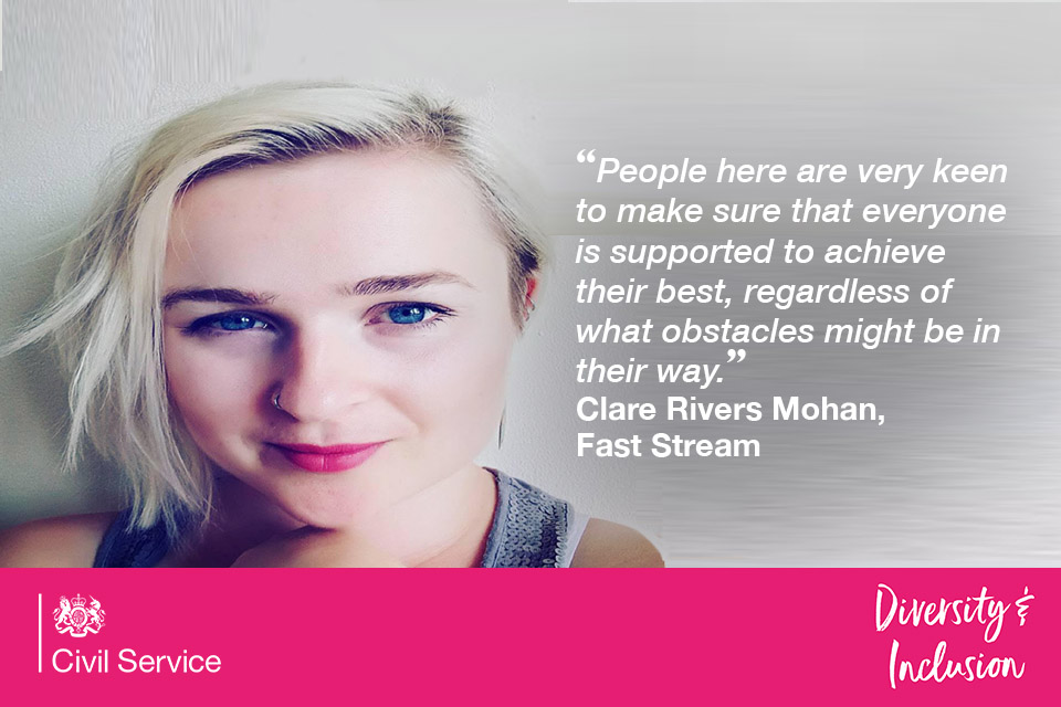 Fast streamer Clare on support available from management on the Fast Stream