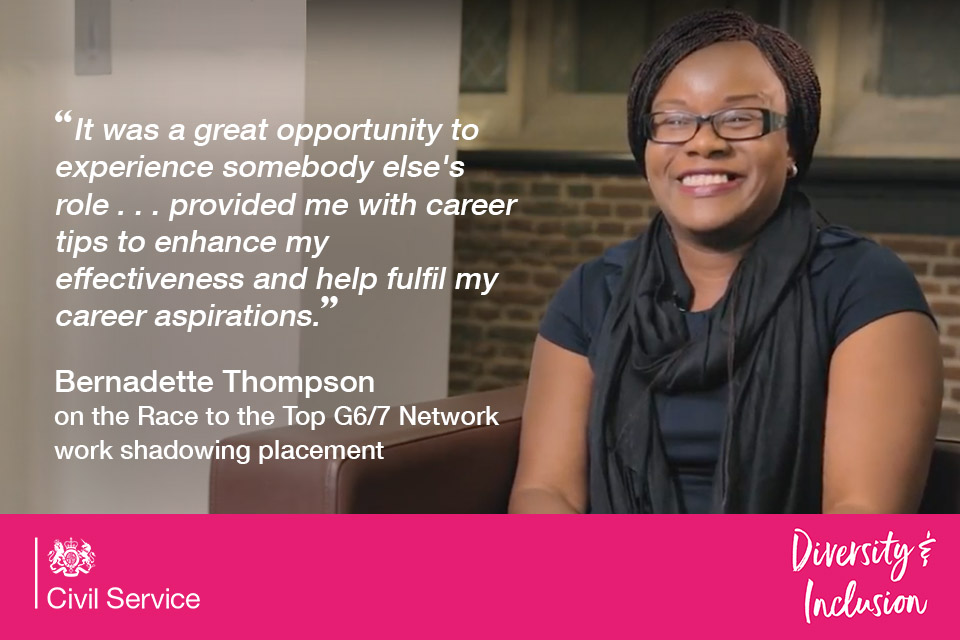 Bernadette Thompson on Race to the Top G6/G& work shadow programme