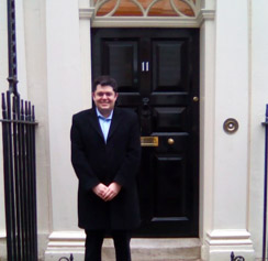 Andrew Chapman on placement at HM Treasury during Interchange Week