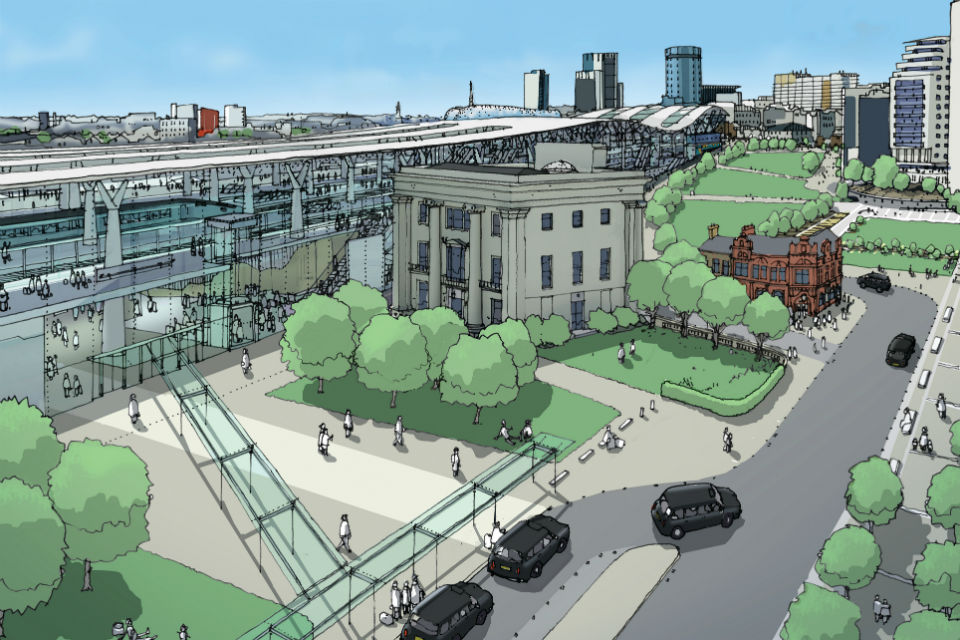 Artist's impression of new city centre station