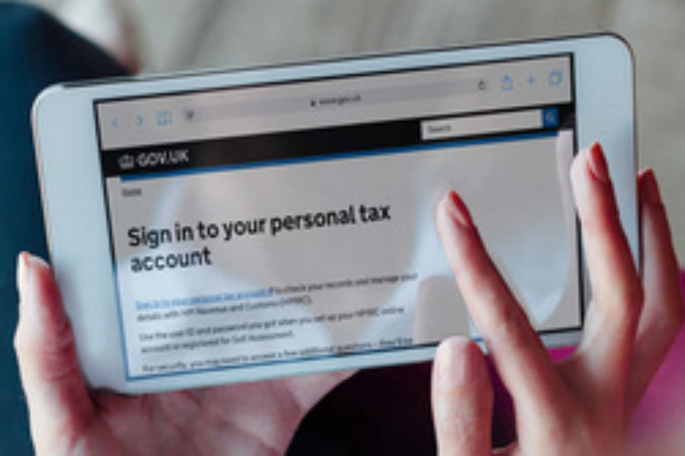 Home page of personal tax account site