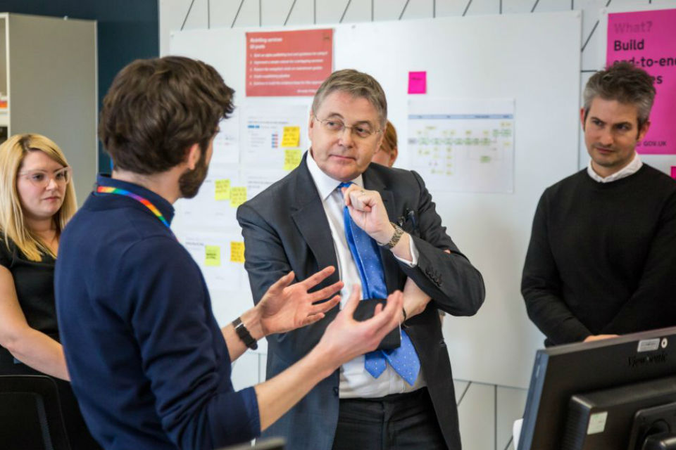 Jeremy Heywood visiting GDS