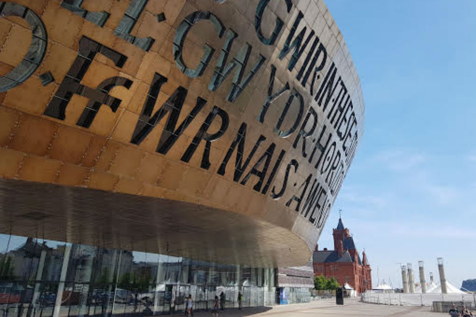 of the Wales Millennium Centre, Cardiff